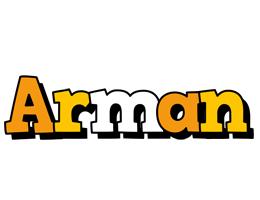 Arman cartoon logo