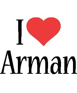 Arman i-love logo