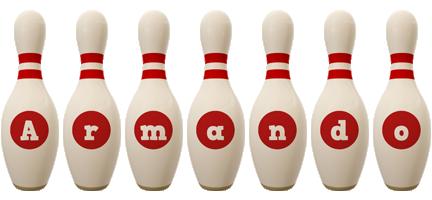 Armando bowling-pin logo