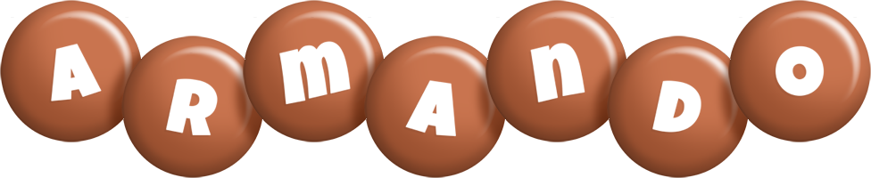 Armando candy-brown logo
