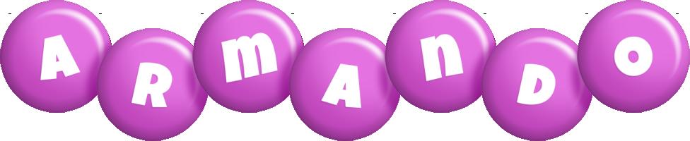 Armando candy-purple logo