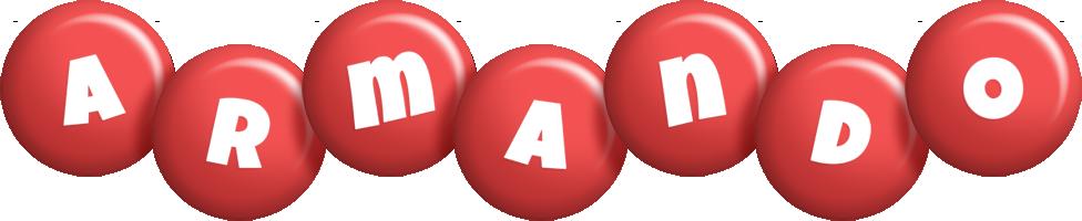 Armando candy-red logo