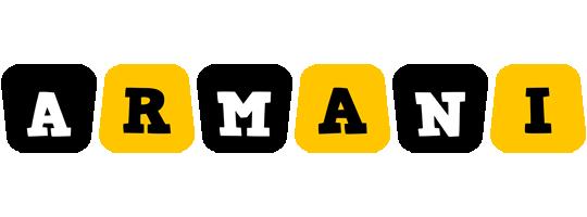 Armani boots logo