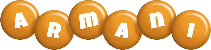 Armani candy-orange logo