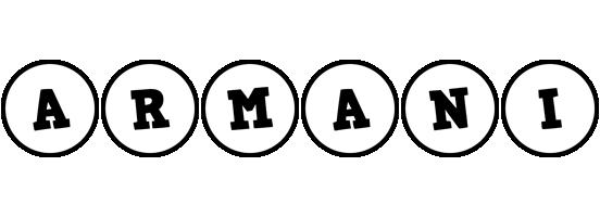 Armani handy logo