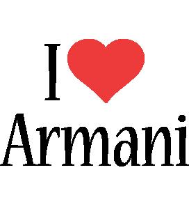 Armani i-love logo