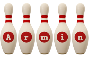 Armin bowling-pin logo