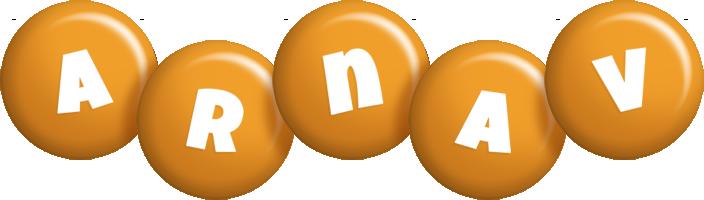 Arnav candy-orange logo