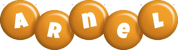 Arnel candy-orange logo