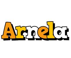 Arnela cartoon logo