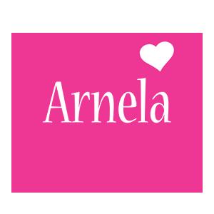 Arnela love-heart logo