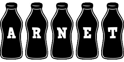 Arnet bottle logo