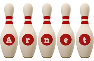 Arnet bowling-pin logo