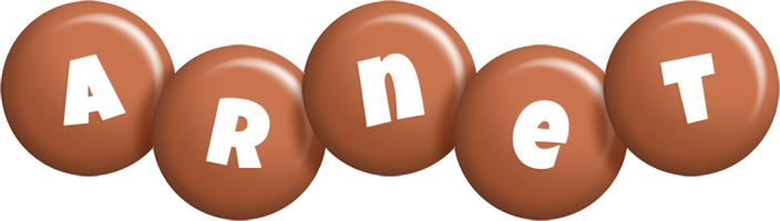 Arnet candy-brown logo