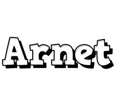 Arnet snowing logo