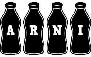 Arni bottle logo