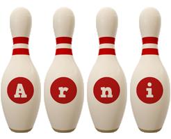 Arni bowling-pin logo