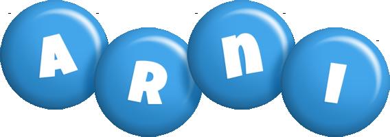 Arni candy-blue logo