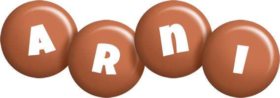 Arni candy-brown logo