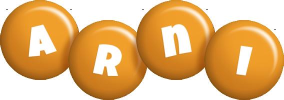 Arni candy-orange logo