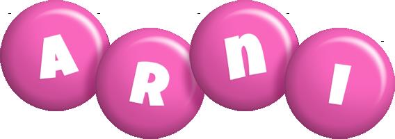 Arni candy-pink logo