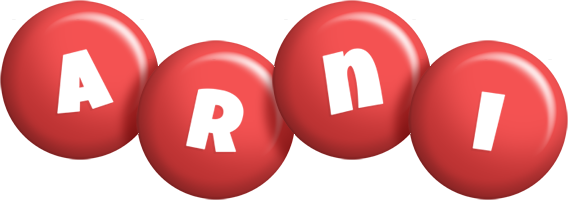 Arni candy-red logo