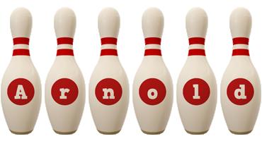 Arnold bowling-pin logo