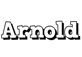 Arnold snowing logo
