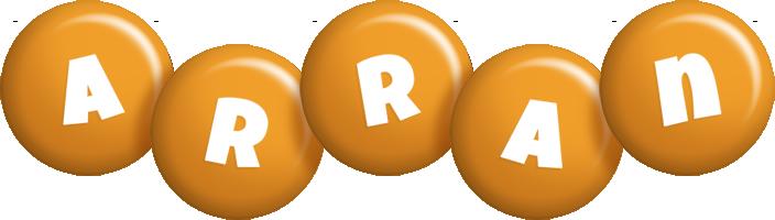 Arran candy-orange logo