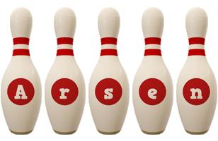 Arsen bowling-pin logo