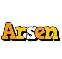 Arsen cartoon logo