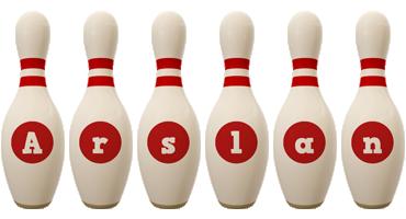 Arslan bowling-pin logo