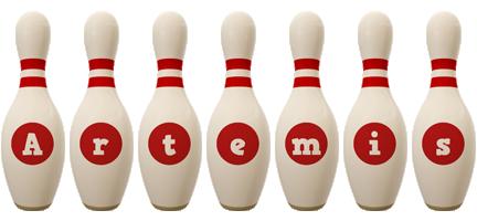 Artemis bowling-pin logo