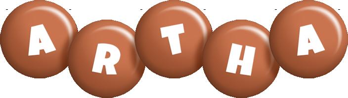 Artha candy-brown logo