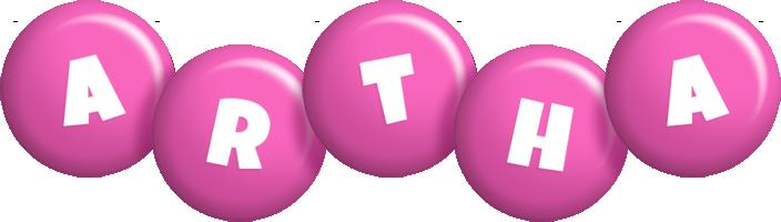 Artha candy-pink logo