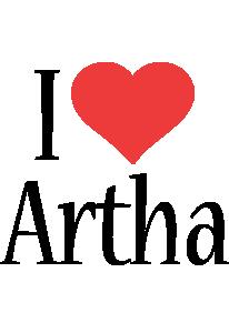 Artha i-love logo
