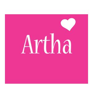 Artha love-heart logo