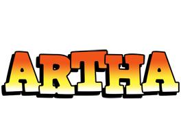 Artha sunset logo