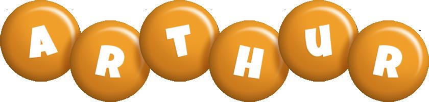 Arthur candy-orange logo