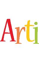 Arti birthday logo