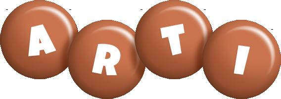 Arti candy-brown logo