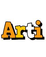 Arti cartoon logo