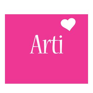 Arti love-heart logo