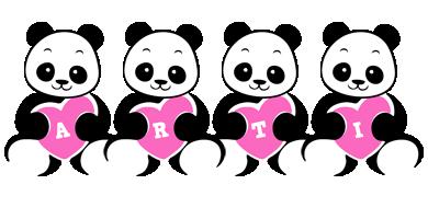 Arti love-panda logo