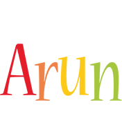 Arun birthday logo