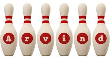 Arvind bowling-pin logo
