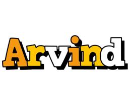 Arvind cartoon logo