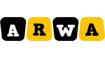 Arwa boots logo