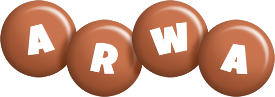 Arwa candy-brown logo