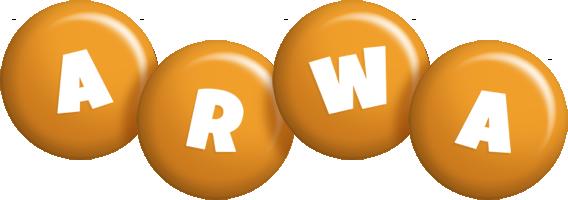 Arwa candy-orange logo